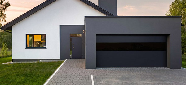 Infinity Flush Panel Smooth Steel Garage Door With Horizontal Modern