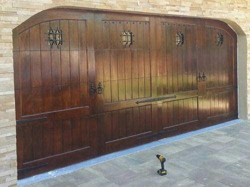 Adriano Spanish Style Custom Wood Garage Door