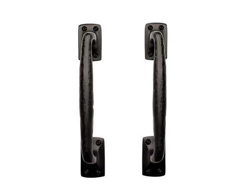 "10 1/2"" Square End Pull Handle ; Solid Aluminum"
