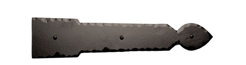 15-1/2 Rustic Ranch Spear End Hinge; Solid Aluminum
