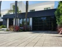 30bd35a5f98 Contemporary Black Aluminum   Black Laminate (Privacy) Glass Garage Door